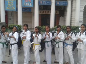 HFT Taekwondo Girls at Rahgiri